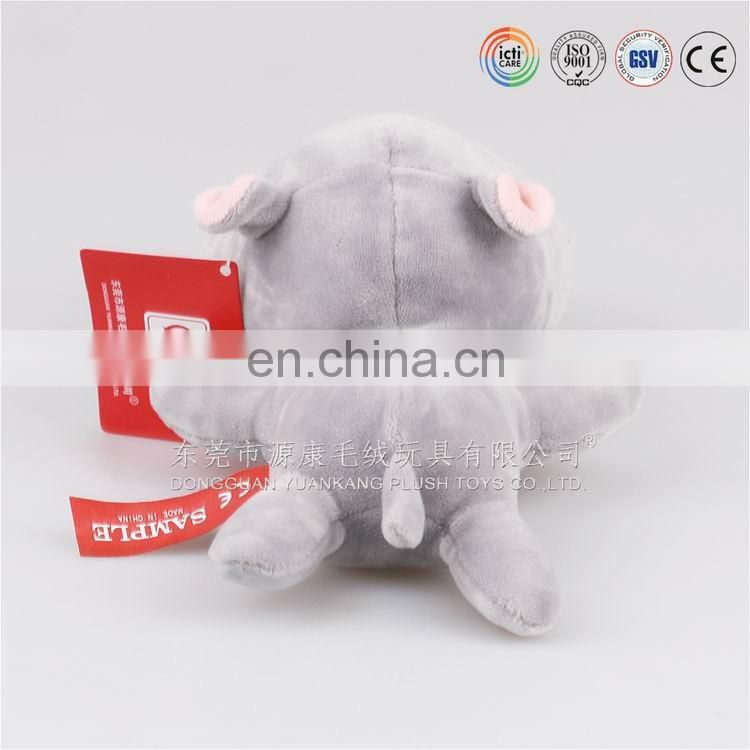Plush animal hippo shape stuffed pillow