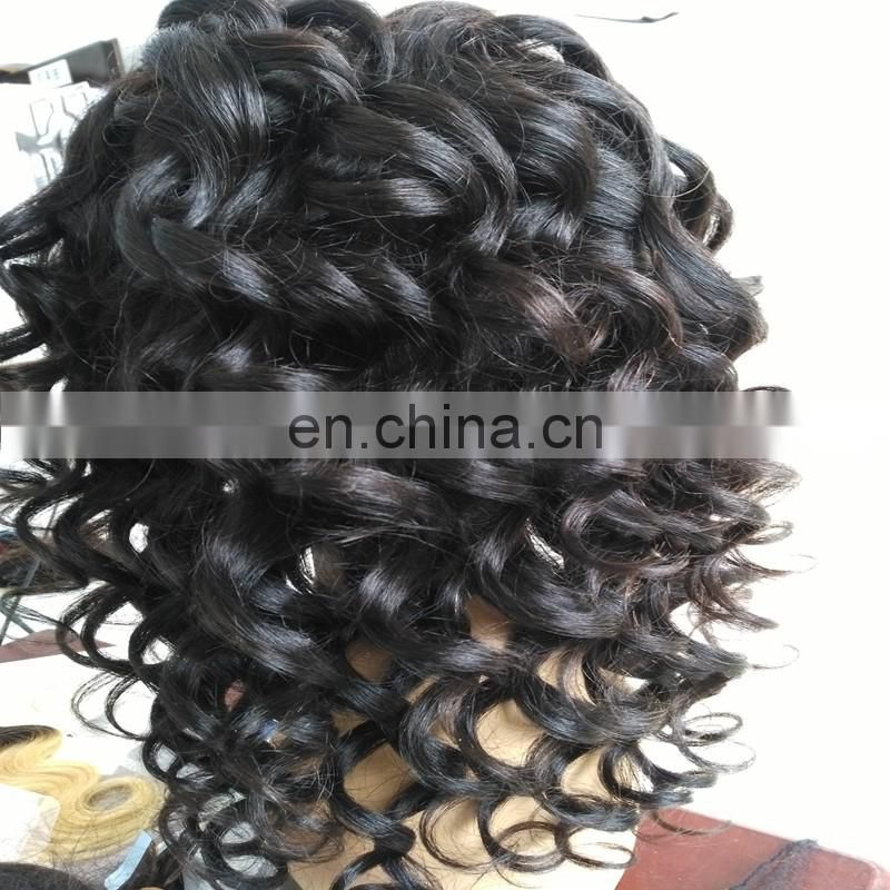 Factory price loose wave full lace human hair wigs virgin peruvian human hair 18 inches swiss lace wigs