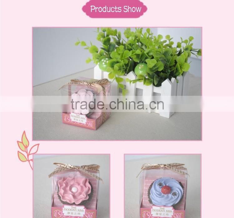 Mendior Capcake flower lip balm single packaging with brush Christmas birthday gift 1pc/box wholesale support OEM
