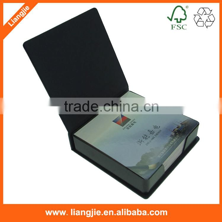 advertising emboss logo pad with holder,custom logo memo pad with plastic holder