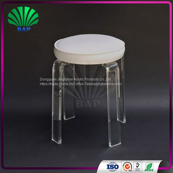Super Wholesale Acrylic Cushion Round Stool Lucite Art Room Stool Forskolin Free Trial Chair Design Images Forskolin Free Trialorg