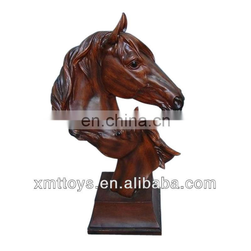 Transparent resin horse animal sculpture as gift and decoration