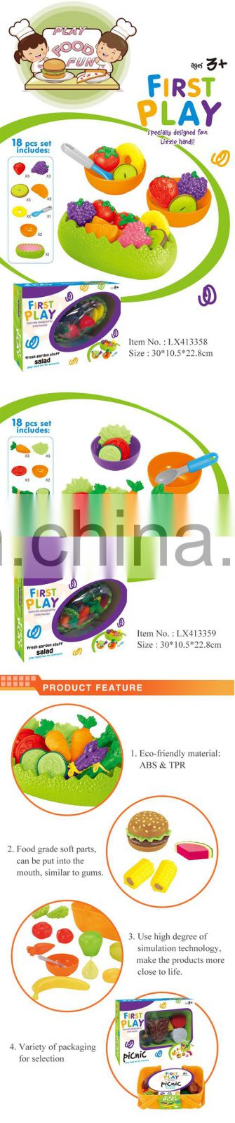 Play Food Kids Plastic Vegetable Fruit For Pertend Game