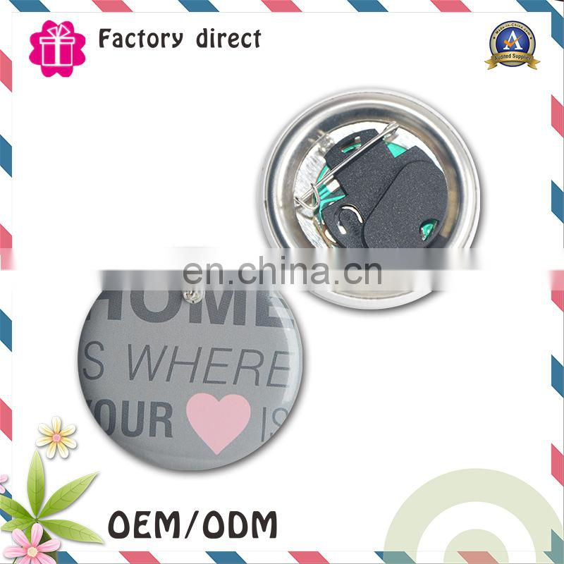 Led plastic button badge, flashing badge pin, led pin badge