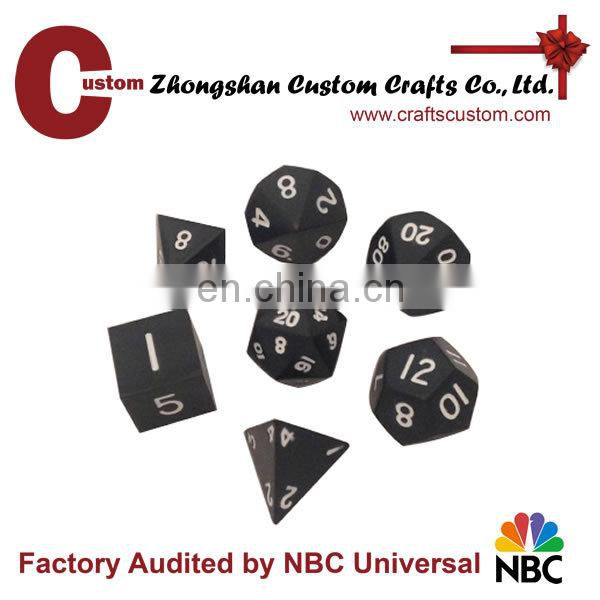 Custom fashion design game dice sets