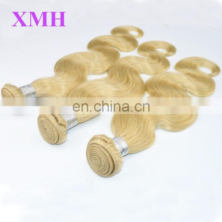 Wholesales Factory Price High Quality Remy Human Hair Russian Blonde Hair Weave