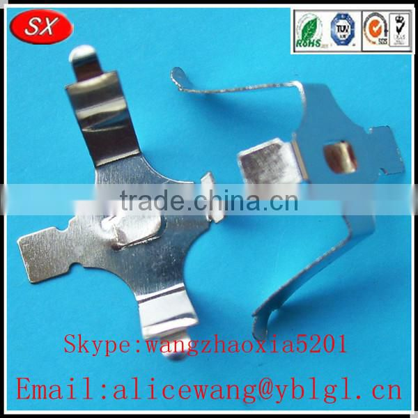 Nickel Plating Copper Stainless Steel Battery Holder With Switch