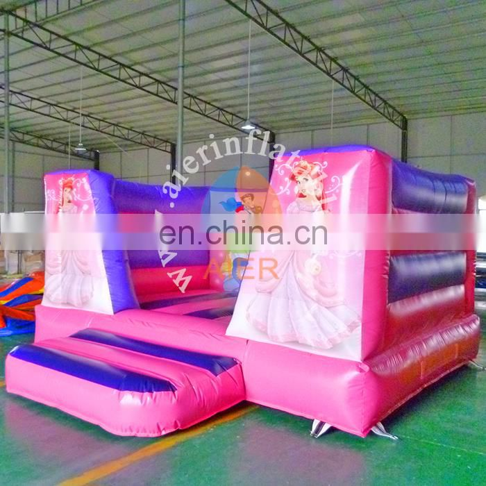 Excellent quality inflatable jumping castle princess bouncer castle pink kids bouncy castle inflatable for sale