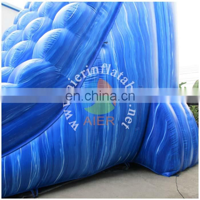 PVC High quality water slide symphony blue kids inflatable slide wholesale giant water inflatable slide for adult