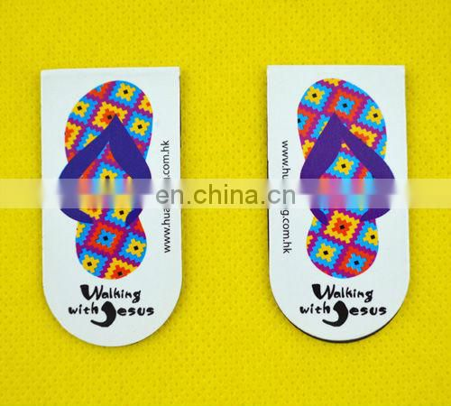 Factory wholesale custom die cut magnetic laminated bookmarks