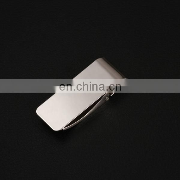 PROMOTIONAL SALE POPULAR ZINC ALLOY PAPER SILVER BLANK MONEY CLIP