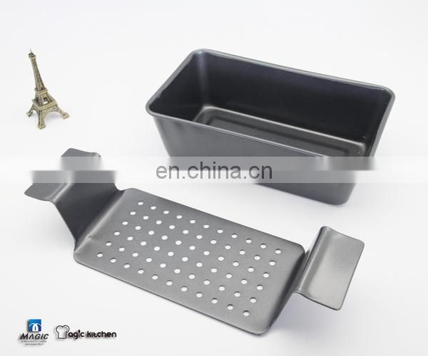 Non-Stick Coating Carbon Steel Meatloaf Pan with Removable Tray