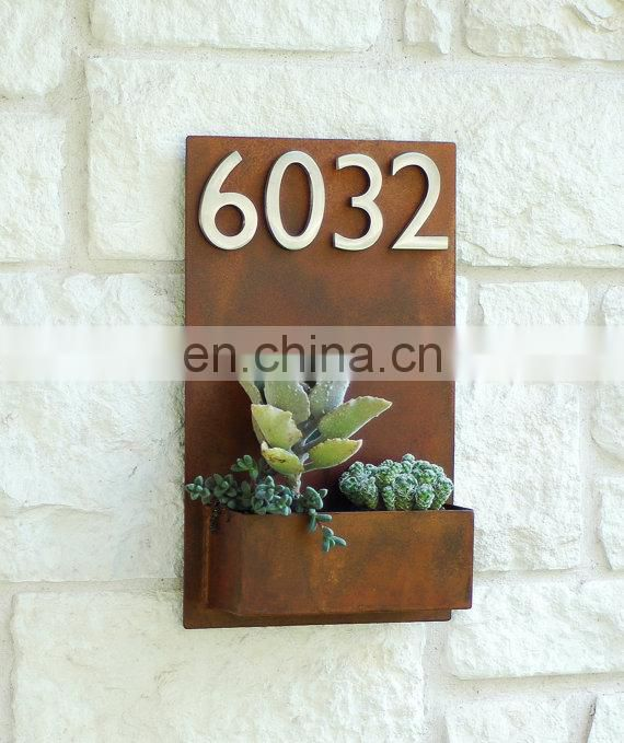 Rustic Metal Door Number Plates and Wall Letters