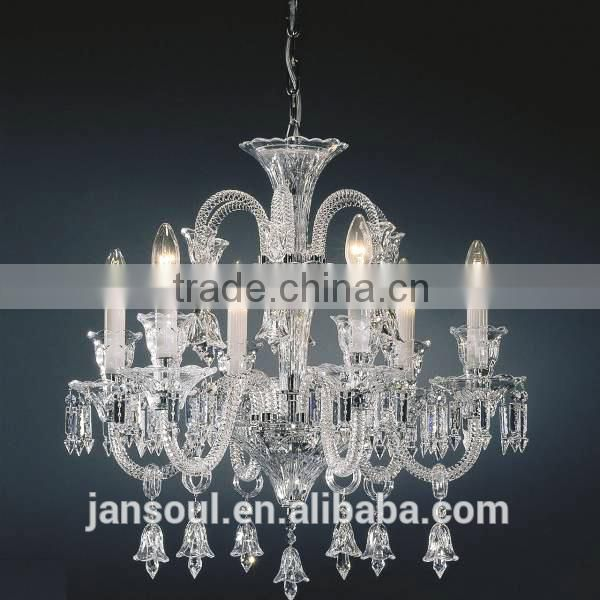 colored glass venetian murano glass 6 light poly chandelier