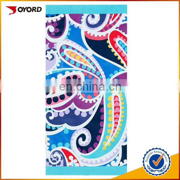 Printed square/circular swimming towel and sports towel custom beach towel