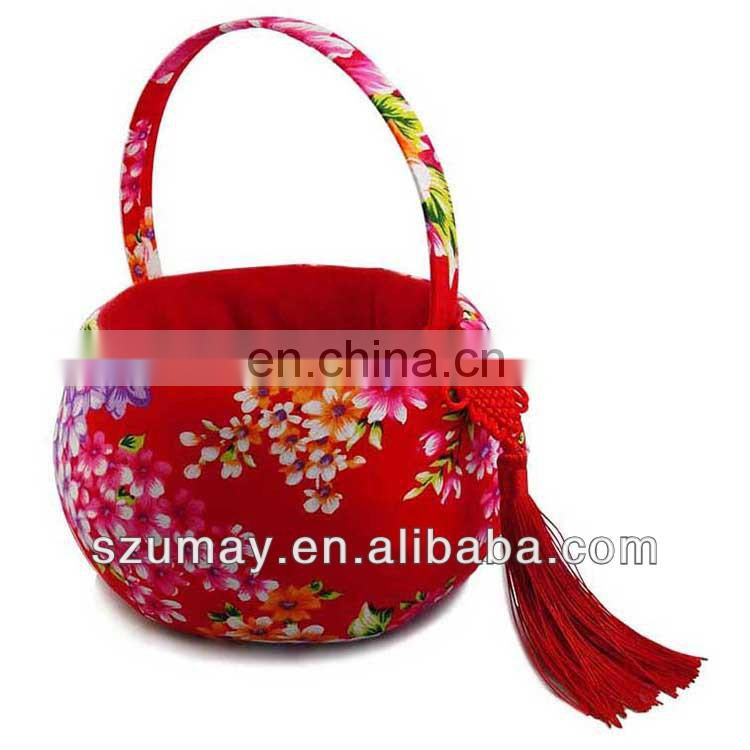 2017 New year Candy basket flower bag fabric basket Umay-CNY0001