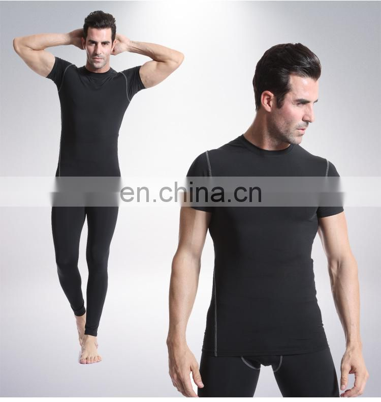 Men Training Workout Fitness Clothing Sport Short sleeve Quick-dry Gym T-shirt