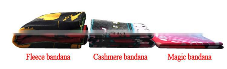 LINGSHANG fashion printed bandana custom tubular bandana polar fleece multifunctional bandana