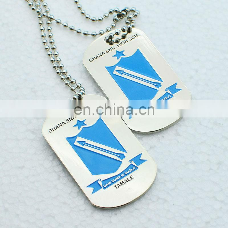 Fashion cheap sublimation blank metal dog tag