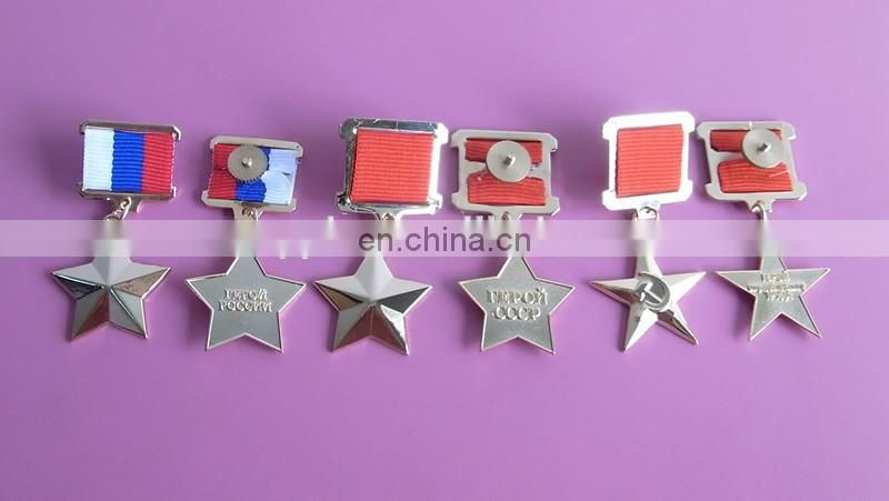 Russia honor holiday decoration customized logo design souvenirs soft enamel metal medal