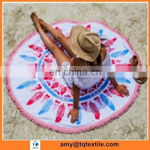 Wholesale Printing Round Beach Towel From Factory