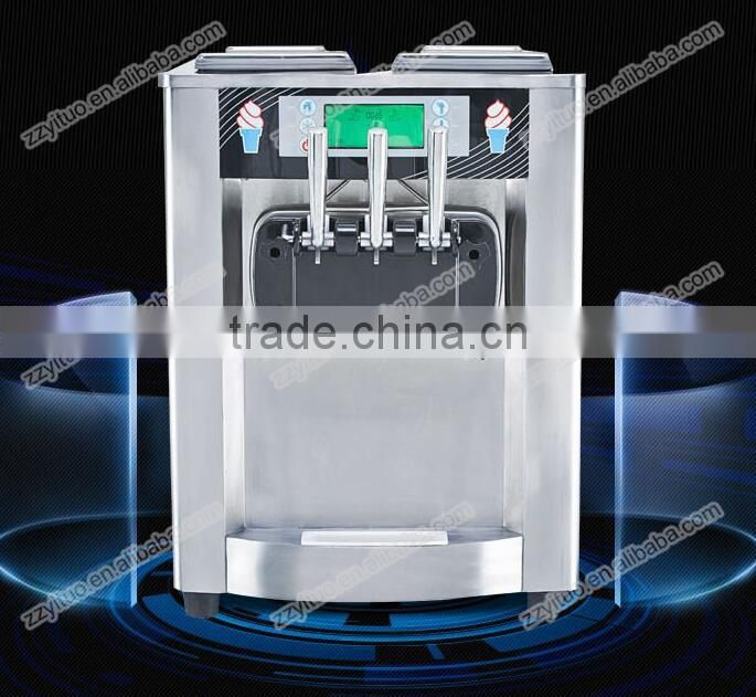High Production 3 Flavors Mini Soft Serve Ice Cream Making Machine ,Soft Ice Cream Machine