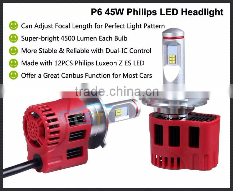 hot selling high quality locomotive led lights 3600lumens 35W Motorcycle LED Headlight