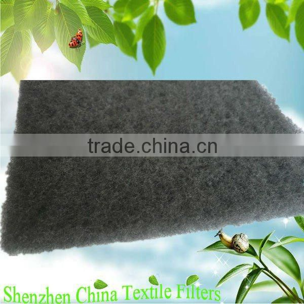 Activated charcoal nonwoven fabric media