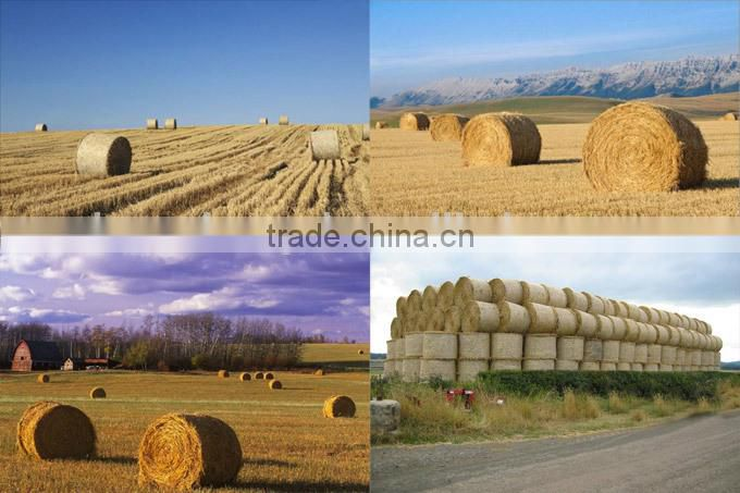 Tractor mounted round hay portable baler