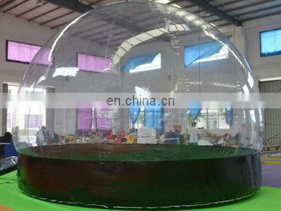 CE Inflatable Clear Tent, Decoration Snow Globe for Christmas with Bottom