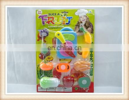 kids plastic funny cutting vagetable toy kitchen play set