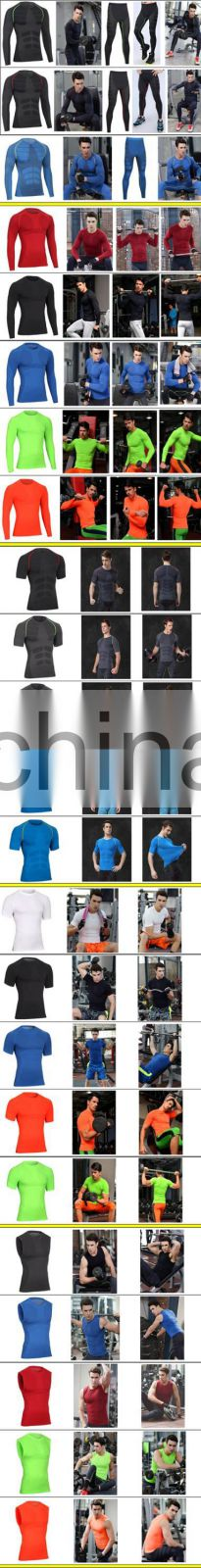 2017 men gym wear extend hip hop fitness compression workout t shirt