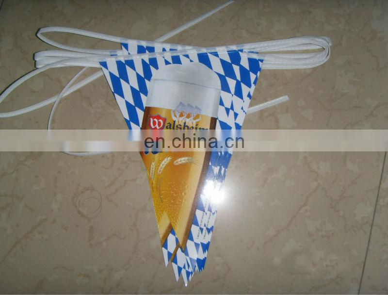20x21CM pennant PVC double sides print advertising bunting