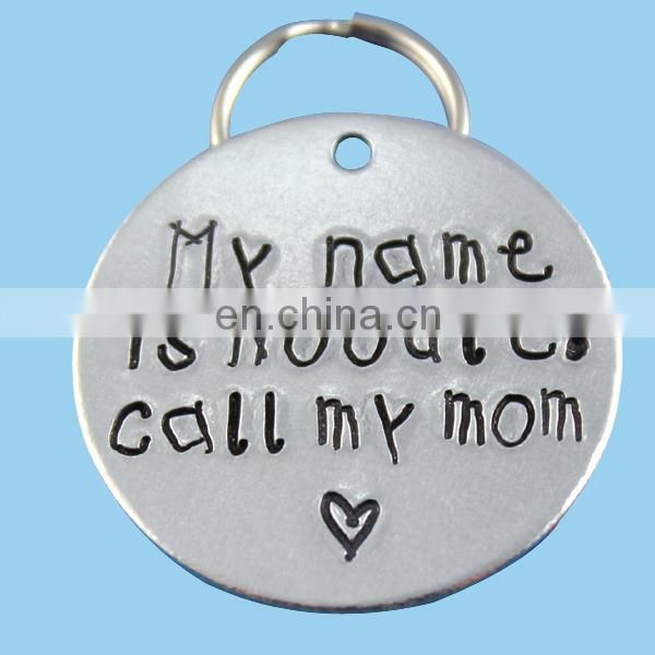 Engraved metal pet tags with custom logo