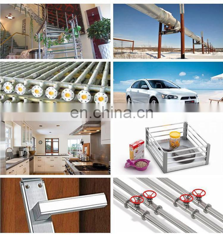 Stainless steel exhaust perforated tubes for food industry, construction, upholstery and industry instrument