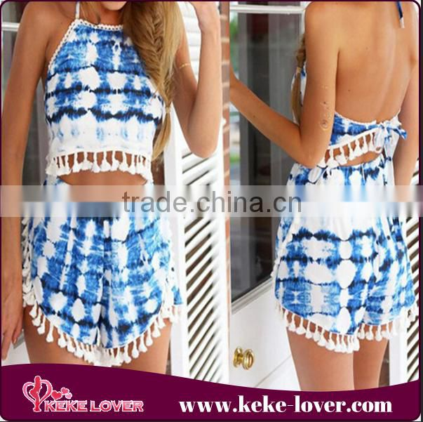 wholsale designer summer beach party cover up dress 2015 backless sexy swimsuit mini dress fashion sleeveless beach dress Image