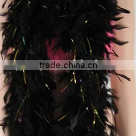 BLACK&WHITE FEATHER BOA/FEATHER SCARF/ WOMEN PARTY FANCY DRESS ACCESSORY/FEATHER PRODUCT