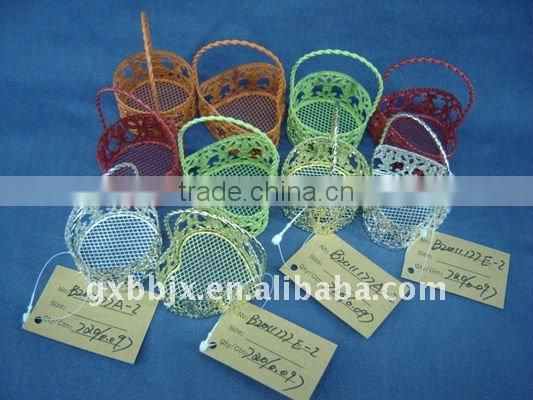 Round/Heart shaped welding wire storage hanging gift baskets
