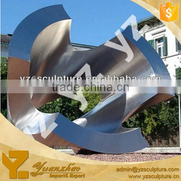 garden large modern stainless steel sculpture for sale
