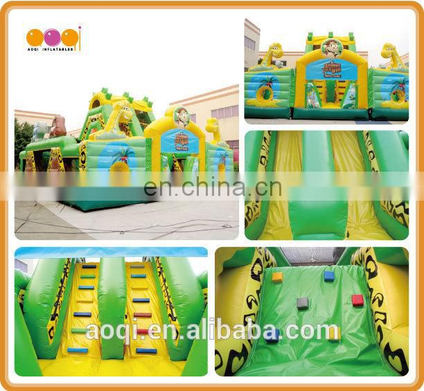 AOQI amusement park equipment inflatable fun city giant inflatable playground fun city games for kids with free EN14960