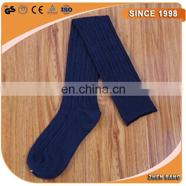 Customized Logo Top Quality 100% cotton knee high socks