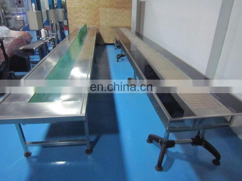 FLK CE Stepless Speed Adjustment PET bottle conveyor belt,chain conveyor