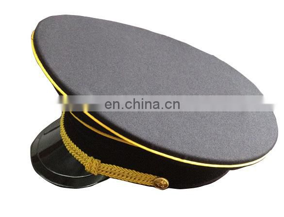 blue combat cap/cadet cap/railway cap/ Health supervision cap with yellow braid