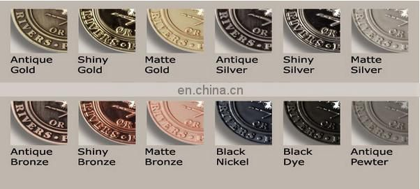 OEM Custom Made Promotional Engraved Sliver Coin