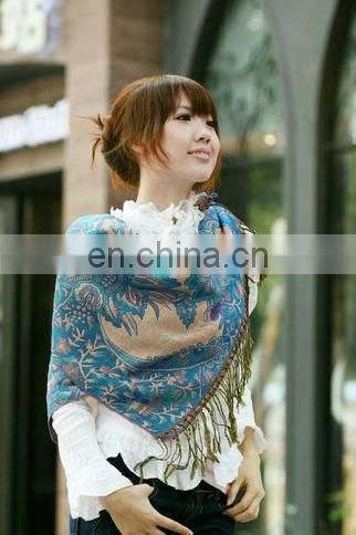 cashew flower jacquard pashmina shawl lady's scarf 180*70cm with gold thread