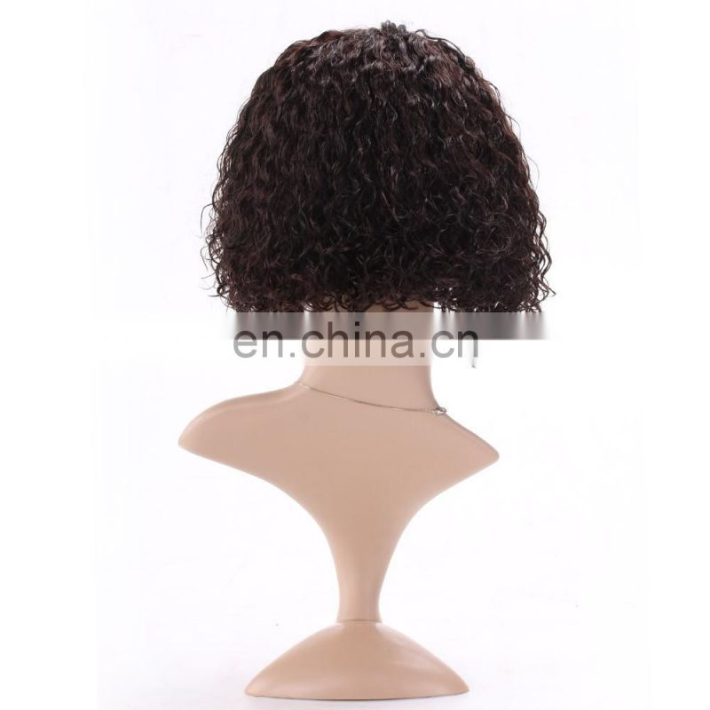 Wholesale Factory Price Customized Curly Brazilian Hair Bob Wig