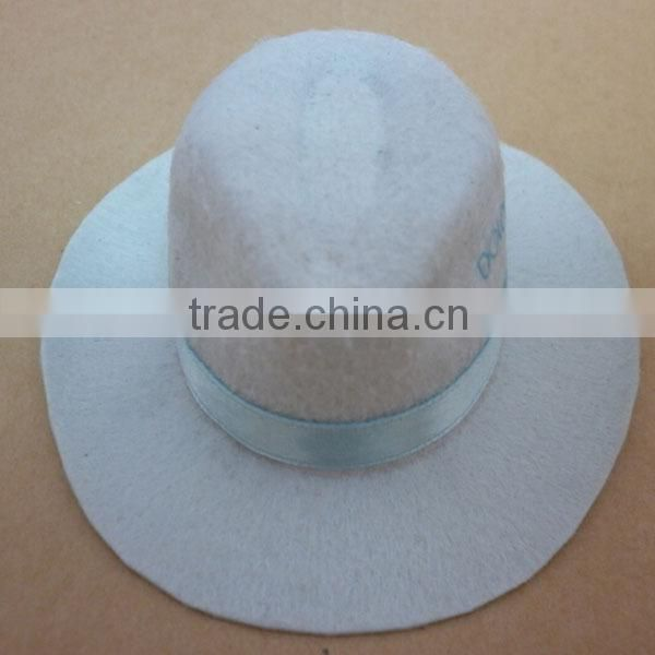 Wholesale Custom Cowboy Hat Non-woven funny Party Hat With wide Brim black silk band party favors cowboy hats