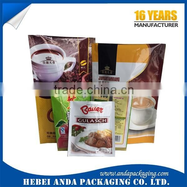 plastic bag manufacturer/food aluminium packaging/plastic sached food bag /stand up pouch