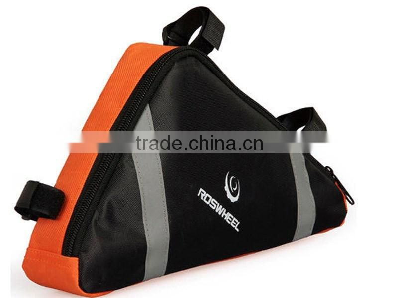 Fashion Bicycle Triangle Backpack Riding Bag Pipe Bag Practical Backpack