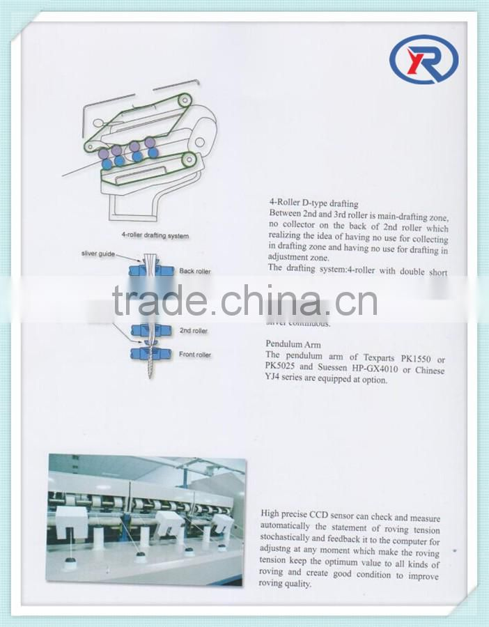 wool cotton yarn making machine/ yarn spinning frame/roving frame with best price